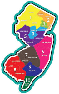 NJ Family Support Planning Council County Map