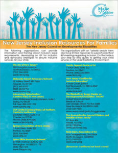 New Jersey Inclusion Resources For Families Booklet