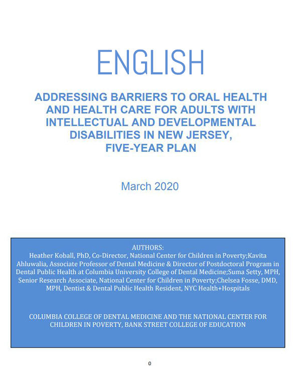 ADDRESSING BARRIERS TO ORAL HEALTH ENGLISH report cover
