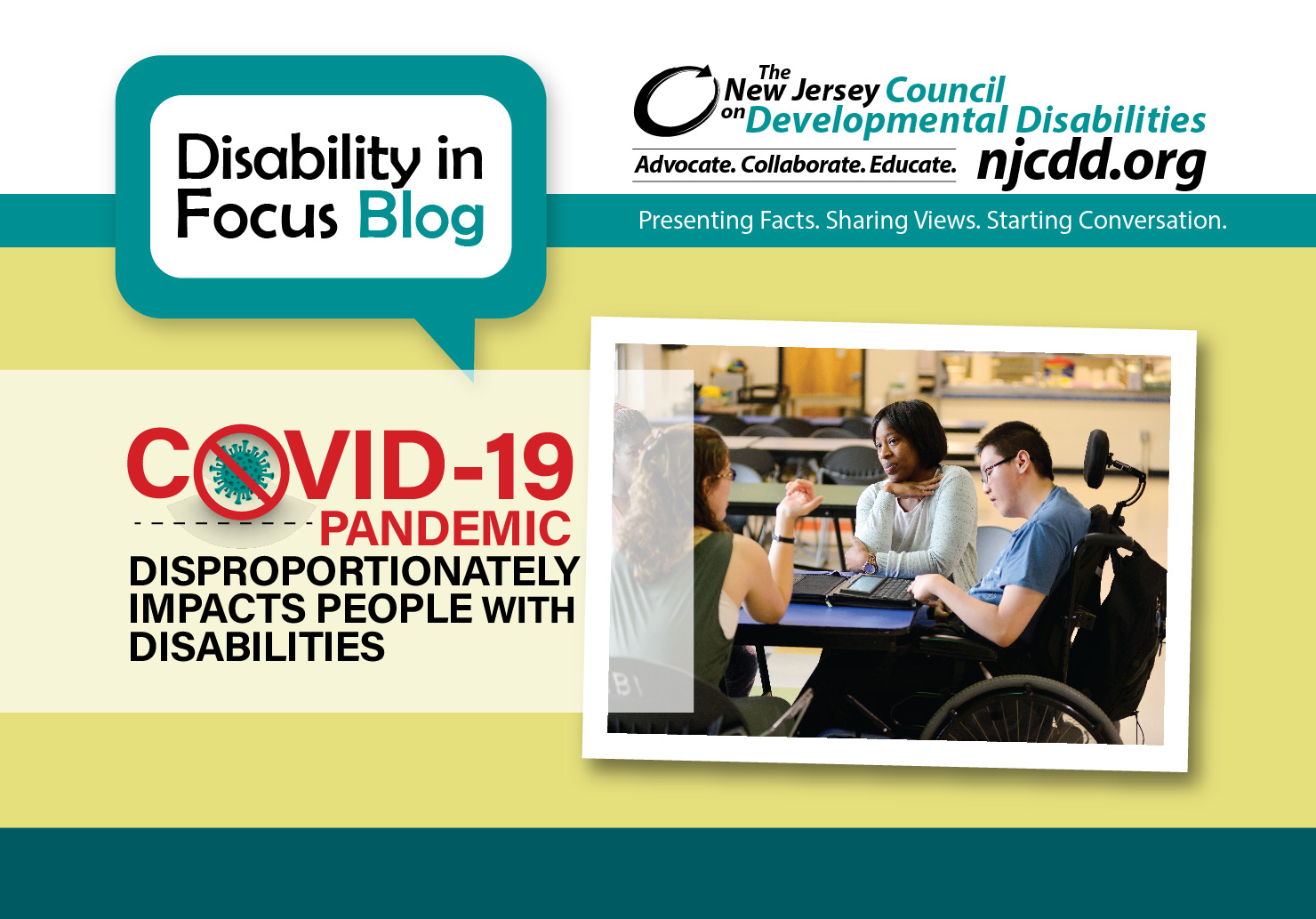 The COVID-19 Pandemic Disproportionately Impacts People with Disabilities