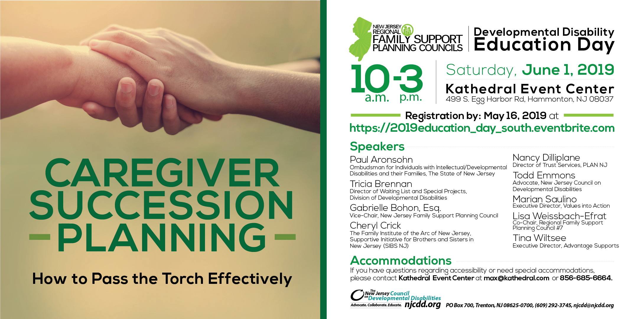 Developmental Disability Ed-Day How to Pass the Torch Effectively