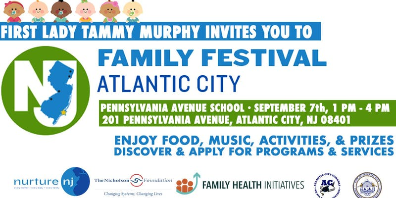First Lady Tammy Murphy's Family Festival is coming to Pennsylvania Avenue School in Atlantic City!