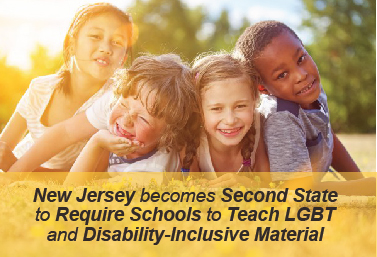 New Jersey Becomes Second State to Require Schools to Teach LGBT and Disability-Inclusive Material