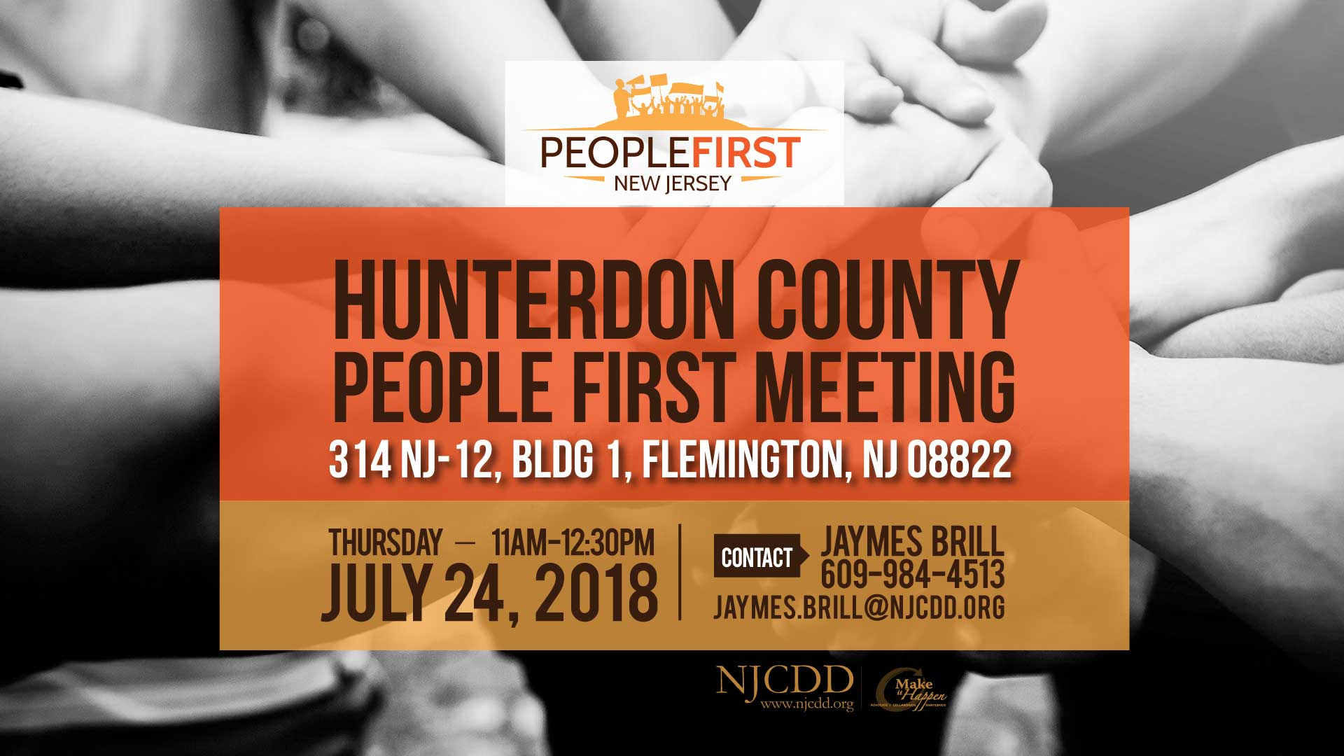 Hunterdon County People First | July 24th 11am-12:30pm | 314 NJ-12, Bldg 1, Flemington, NJ 08822