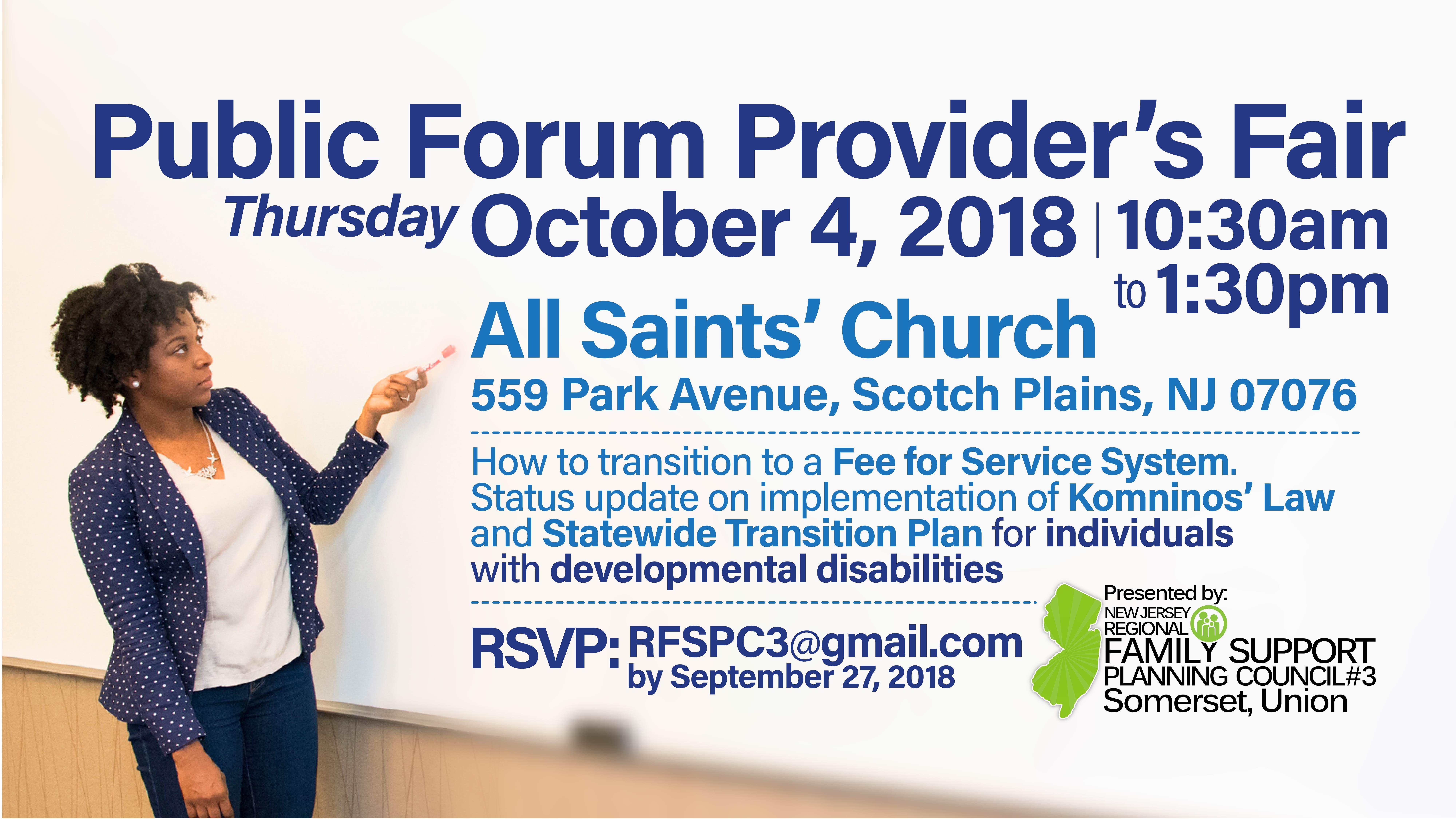 RFSPC3-Publicforum-ProvidersFair-Oct42018-10:30am-1:30pm