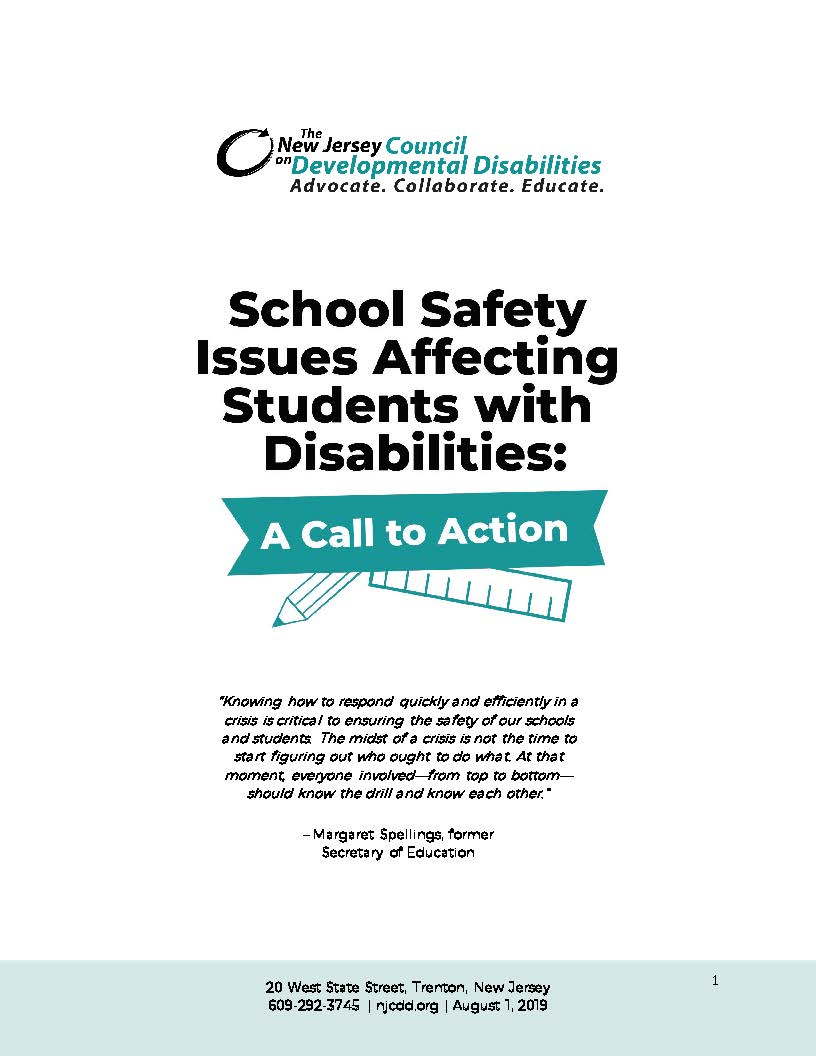 School Safety Issues Affecting Students with Disabilities A Call to Action