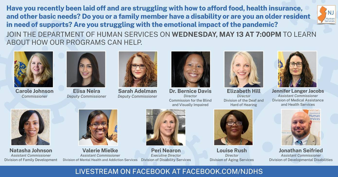 Struggling with basic needs during Covid19-LivestreamFacebook-NJDHS-May13-7pm